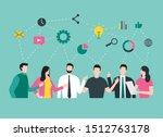 business team mind map. group... | Shutterstock .eps vector #1512763178