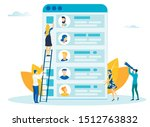 mobile app design process flat...