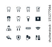 dental icons | Shutterstock .eps vector #151277066