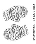 two mittens mantles coloring... | Shutterstock . vector #1512774065