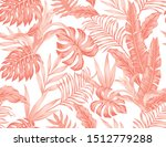 flowers bromeliad and tropical... | Shutterstock .eps vector #1512779288