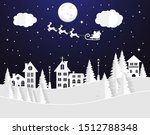 winter landscape with houses... | Shutterstock .eps vector #1512788348