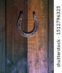 steel classic horseshoe lying... | Shutterstock . vector #1512796325
