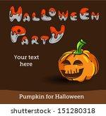 vector halloween party... | Shutterstock .eps vector #151280318