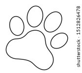 animal paw prints icon. flat... | Shutterstock .eps vector #1512826478