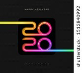 2020 new year logo. greeting... | Shutterstock .eps vector #1512840992