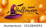 happy halloween background....   Shutterstock .eps vector #1512844292