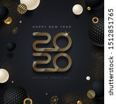 2020 new year logo. greeting... | Shutterstock .eps vector #1512851765