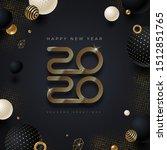 2020 new year logo. greeting... | Shutterstock .eps vector #1512851765