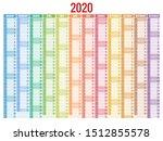 2020 Year Calendar. Holiday...