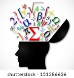 human head open with color... | Shutterstock . vector #151286636
