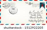 vintage christmas letter to... | Shutterstock .eps vector #1512922205
