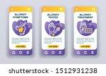 allergy mobile app screen kit....