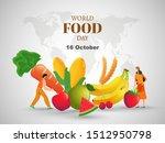 16 october  world food day... | Shutterstock .eps vector #1512950798