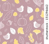autumn seamless pattern. cute... | Shutterstock .eps vector #151296662