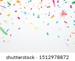 colorful ribbons and confetti...   Shutterstock .eps vector #1512978872