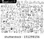 travel set   Shutterstock .eps vector #151298156