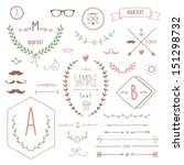 Set Of Hipster Vintage Design...