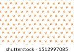 orange aster flower pattern... | Shutterstock .eps vector #1512997085