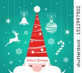 santa claus portrait. christmas ... | Shutterstock .eps vector #1512997502