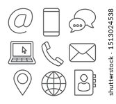 contact line icons on white... | Shutterstock . vector #1513024538