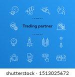 trading partner icons. set of... | Shutterstock .eps vector #1513025672