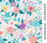 amazing seamless floral pattern ...   Shutterstock .eps vector #1513026545