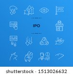 ipo icon set. trade  money ... | Shutterstock .eps vector #1513026632