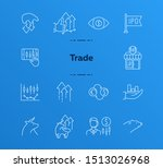 trade line icon set. growth ... | Shutterstock .eps vector #1513026968