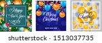 happy new year 2018 banner set...   Shutterstock .eps vector #1513037735