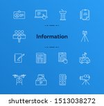 information icons. line icons... | Shutterstock .eps vector #1513038272