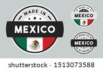 made in mexico collection with... | Shutterstock .eps vector #1513073588
