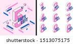 number days left countdown... | Shutterstock .eps vector #1513075175