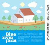 blue river farm vector... | Shutterstock .eps vector #151307606