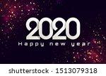 bokeh sparkle christmas 2020...   Shutterstock .eps vector #1513079318