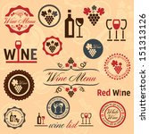 elegant vector wine labels... | Shutterstock .eps vector #151313126