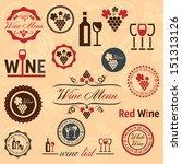 elegant vector wine labels... | Shutterstock .eps vector #151313126