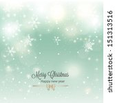 abstract christmas background... | Shutterstock .eps vector #151313516