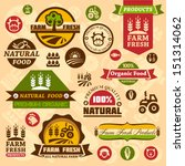 farm fresh labels. organic... | Shutterstock .eps vector #151314062