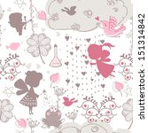 seamless love theme pattern | Shutterstock .eps vector #151314842