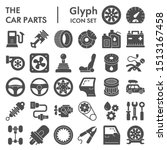 car parts glyph icon set  auto... | Shutterstock .eps vector #1513167458
