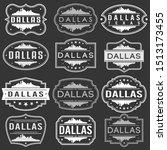 dallas texas skyline. premium... | Shutterstock .eps vector #1513173455