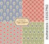 pastel colored retro patterns   ... | Shutterstock .eps vector #151317962