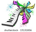 Keyboards - Vector Abstract - stock vector