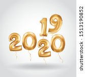 happy new year 2019 2020 gold... | Shutterstock .eps vector #1513190852