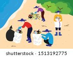 illustration of people cleaning ...   Shutterstock .eps vector #1513192775