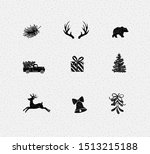 set of decorative christmas... | Shutterstock .eps vector #1513215188