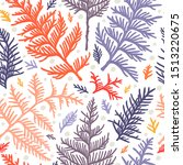 seamless pattern with thuja... | Shutterstock .eps vector #1513220675