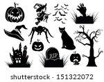halloween silhouettes... | Shutterstock .eps vector #151322072