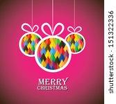 Abstract Christmas Bauble Ball...